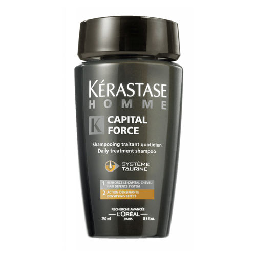 Kerastase HOMME Capital Force Мужской энергетический шампунь для сохранения массы волос 250мл