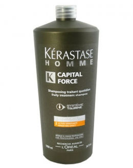 Kerastase HOMME Capital Force Мужской энергетический шампунь для сохранения массы волос 1000мл
